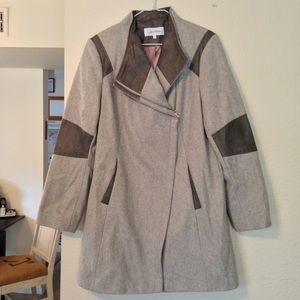 Calvin Klein Gray Wool Pea Coat